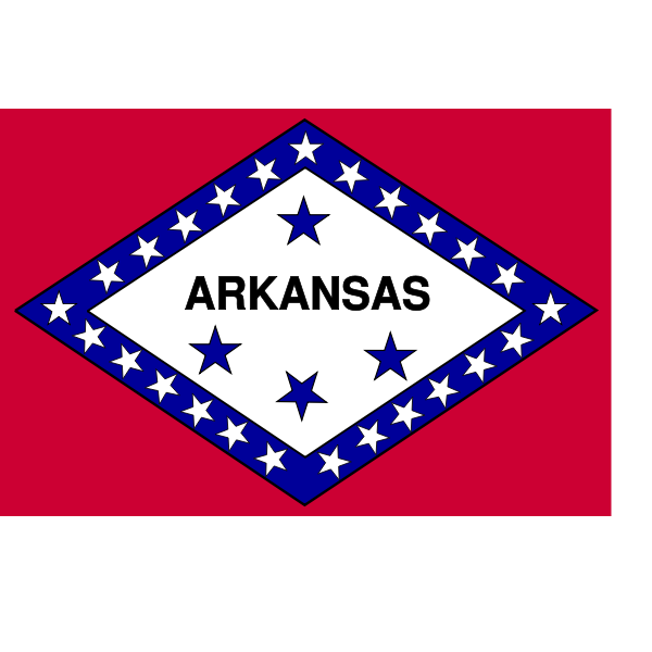 Vector flag of Arkansas