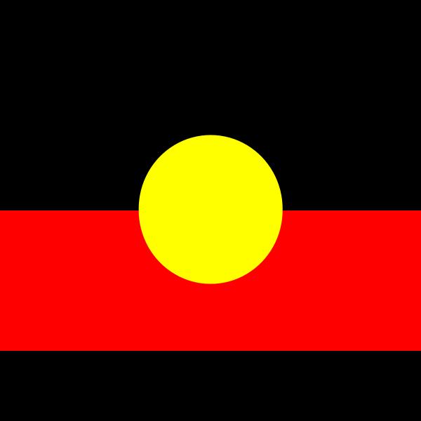 The Australian Aboriginal flag vector image