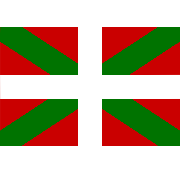 Flag of Basque Country vector image