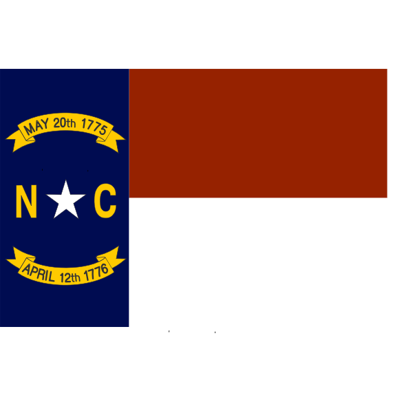 Vector flag of North Carolina
