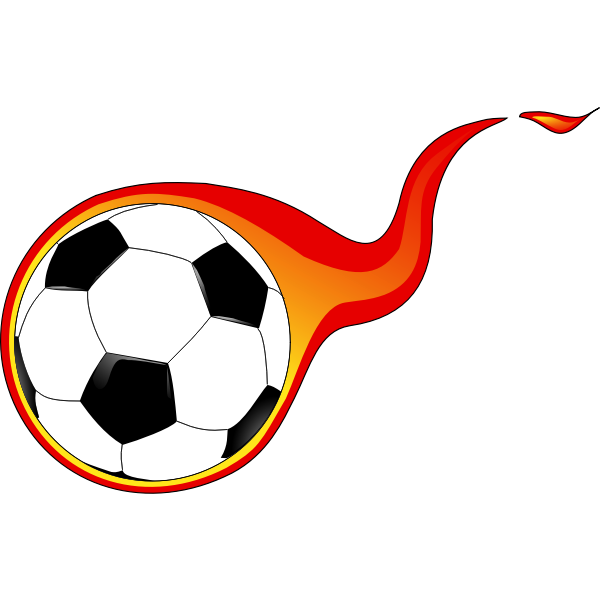 Vector graphics of flaming soccer ball
