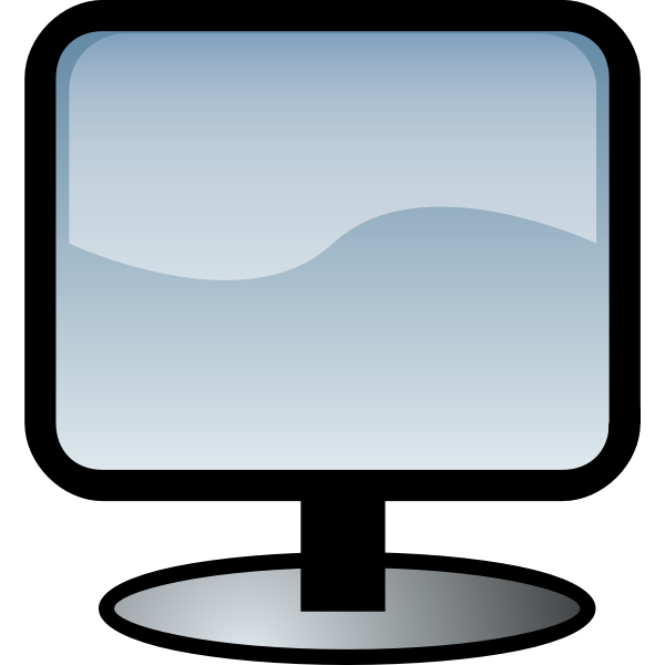 Computer flat monitor symbol vector illustration