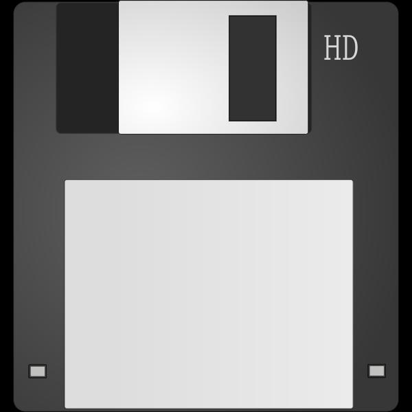 Grayscale computer diskette vector clip art
