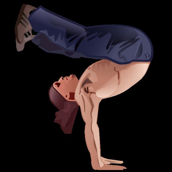 Handstand vector clip art