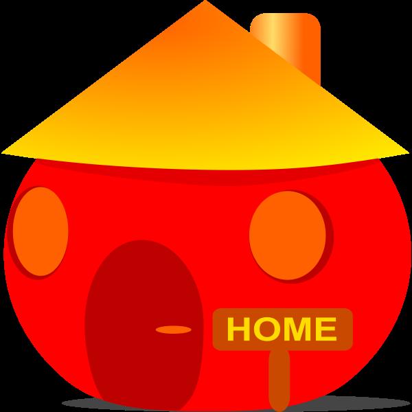 Home Icon vector clip art