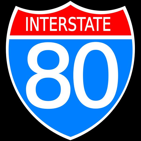 Interstate highway sign vector image
