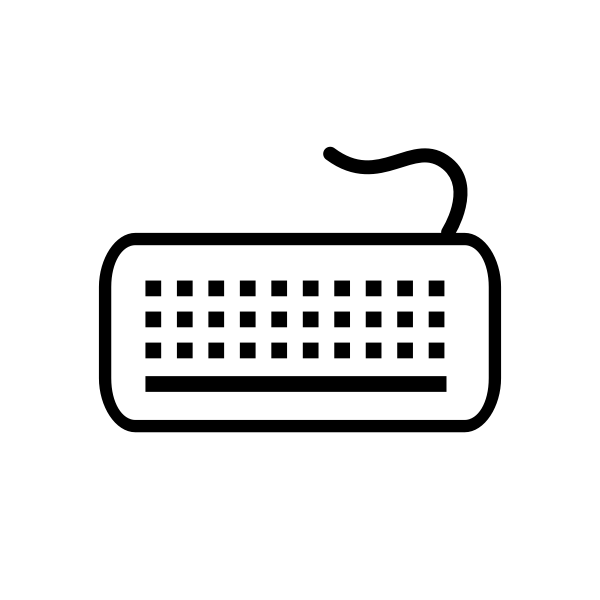 Vector image of a computer keyboard icon