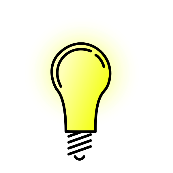 Bright lightbulb vector image