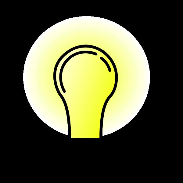 Bright lightbulb vector image