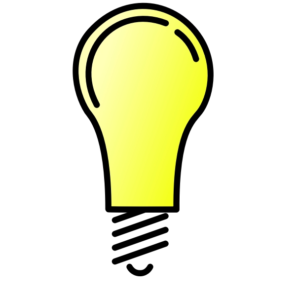 Lightbulb ON vector image