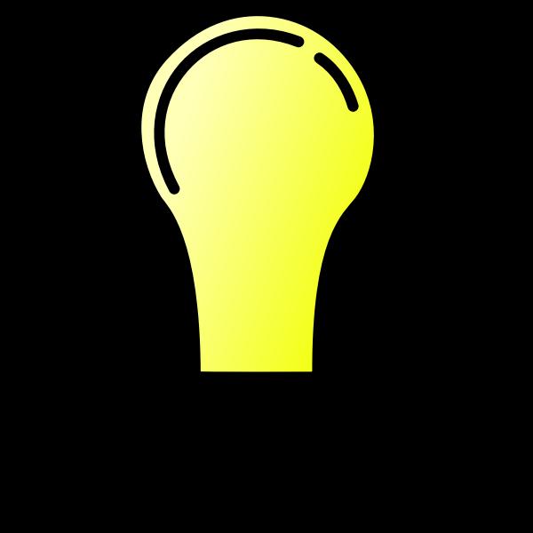 Lightbulb ON vector image