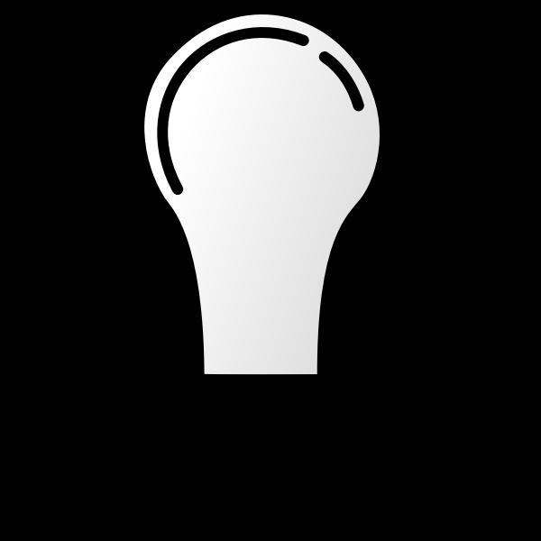 Lightbulb off vector image