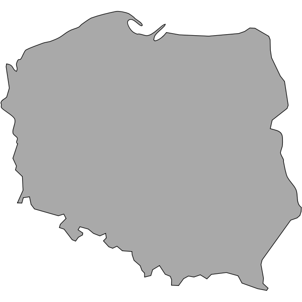 Map of Poland vector illustration