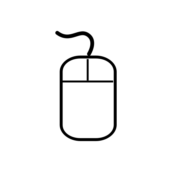 wiredComputer mouse vector icon