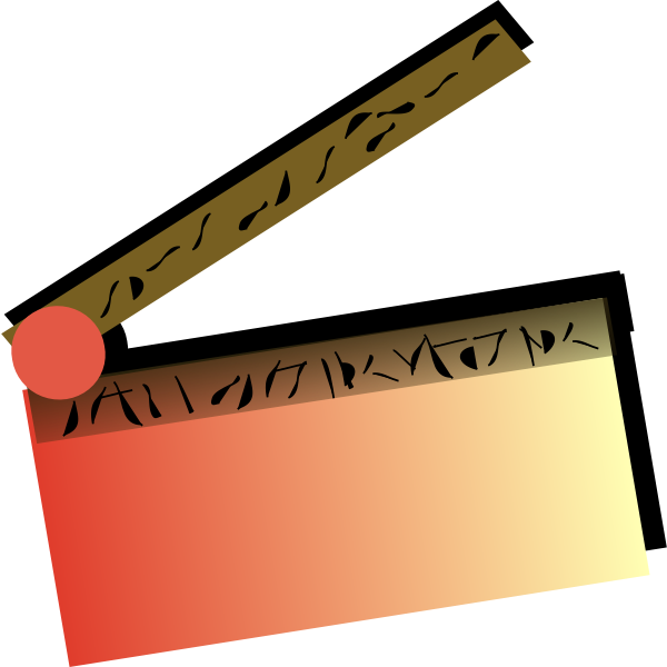 Red clapeprboard vector image
