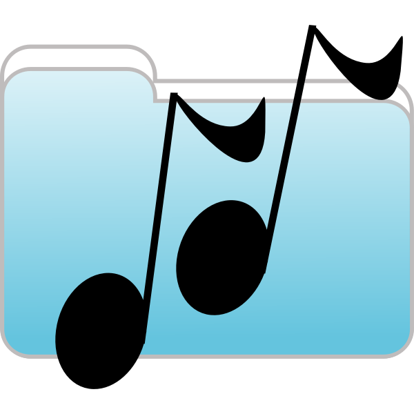 Vector illustration of funny music notes