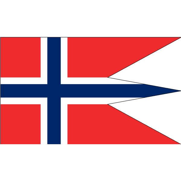 Norwegian state and war flag vector image