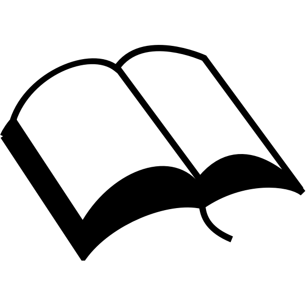 Vector graphics of open book