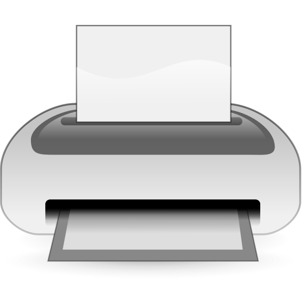 Inkjet printer vector drawing