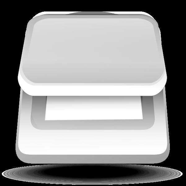 Scanner top view vector image