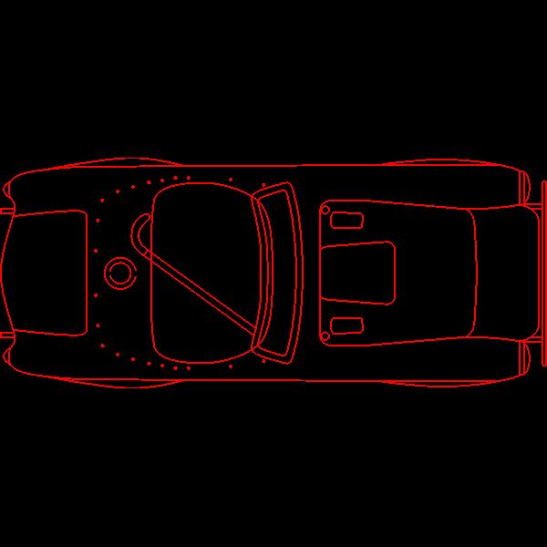 Contour vector graphics of a car
