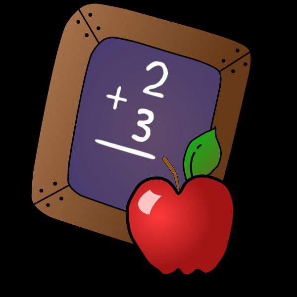 Slate and apple vector image