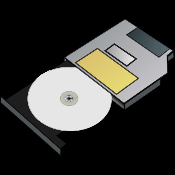 Slim CD drive vector illustration