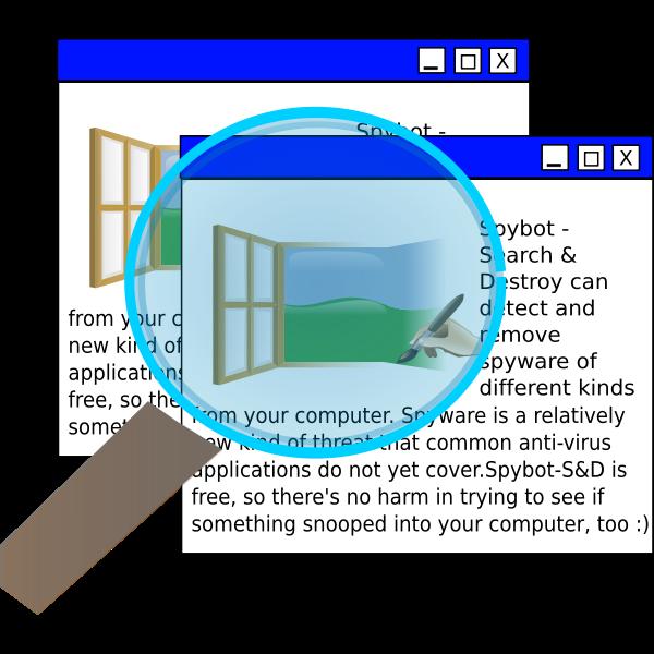 Spybot vector image