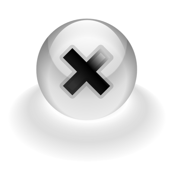 Stop computer button vector drawing