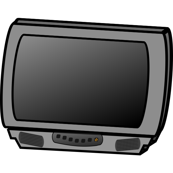 Television receiver vector drawing