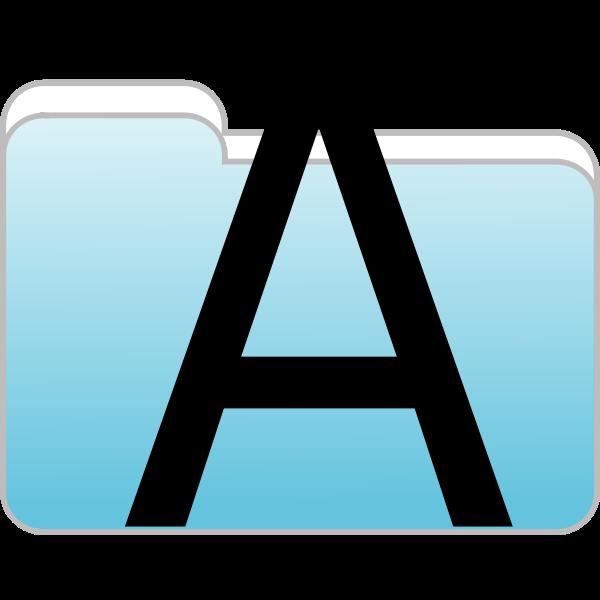 Text folder icon vector image