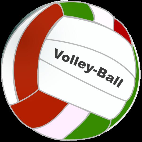 Volleyball ball vector drawing
