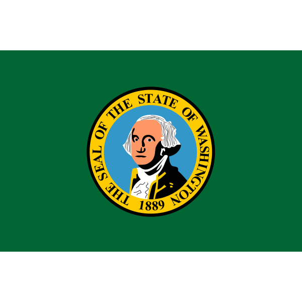 Vector drawing of Washington state flag