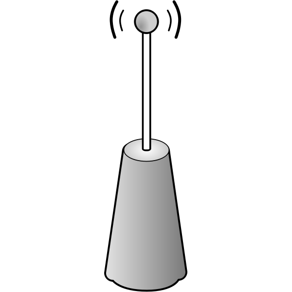Wireless transmitter vector icon
