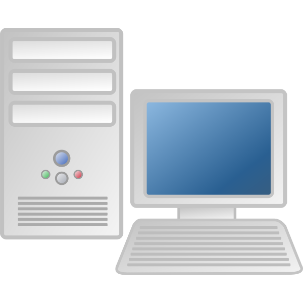 Personal computervector drawing