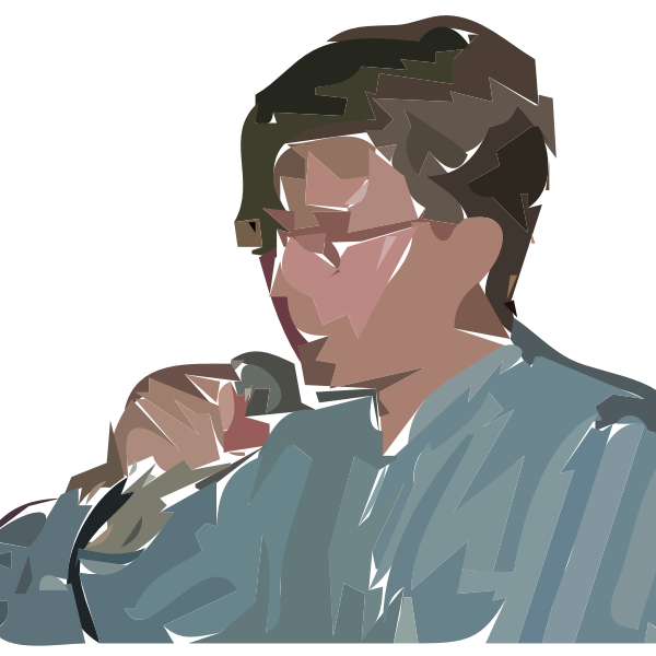 A man singing vector graphics