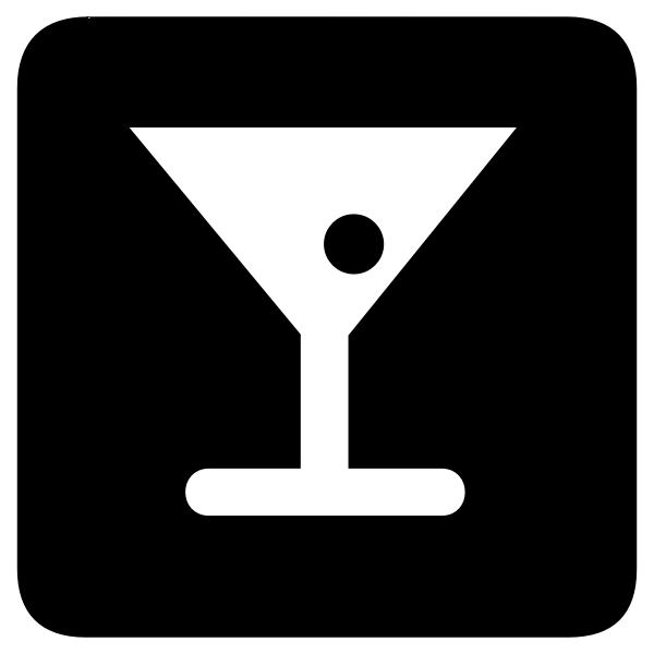 Vector icon for cocktail