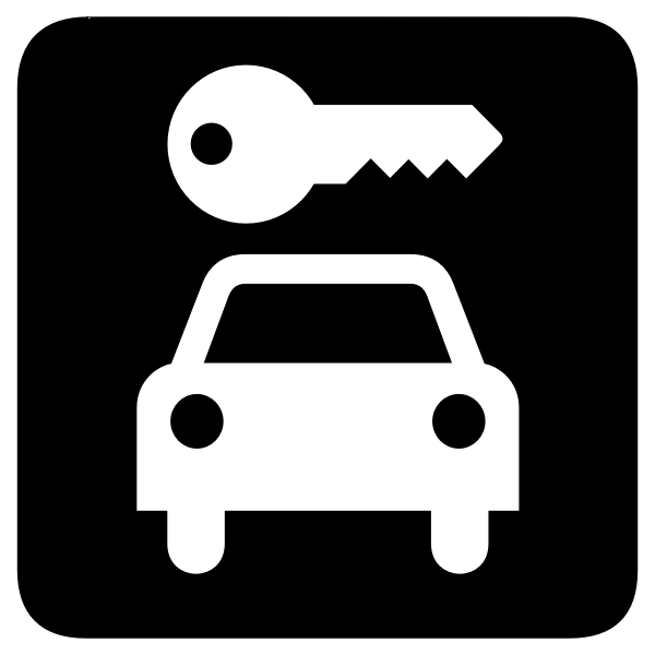 Rent a car icon vector illustration