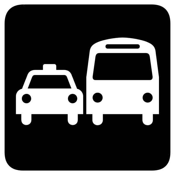 Vector image of airport transfer sign