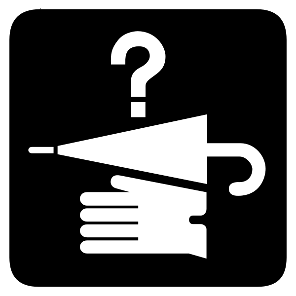 Vector image of lost and found map icon