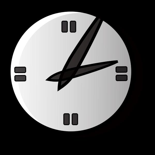 Simple analog clock vector graphics