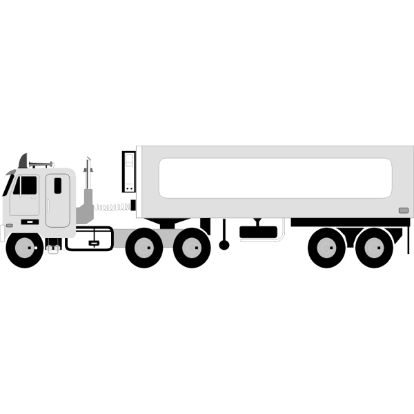 Vector image of mobile refuel container truck