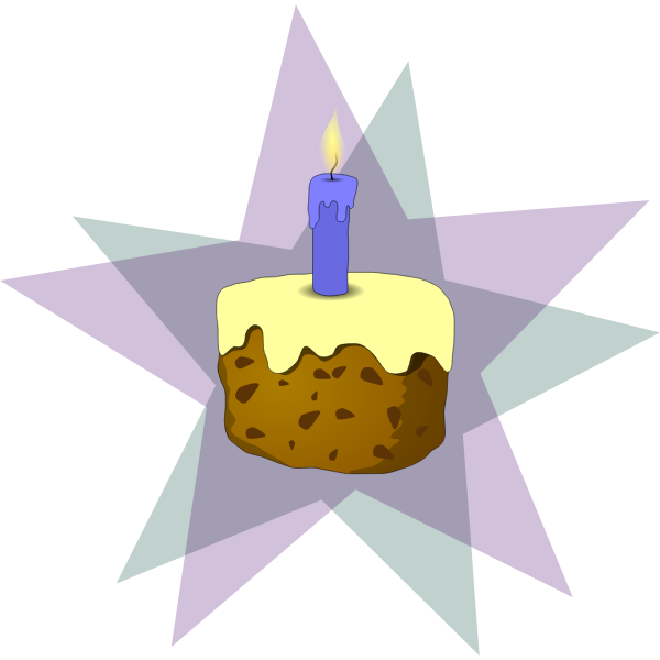 Vector graphics of slice of cake