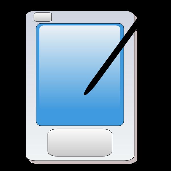 Palm computer vector clip art