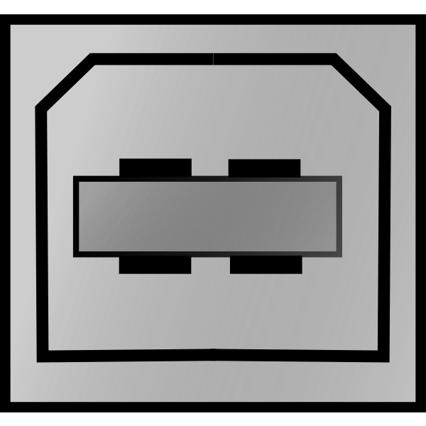 Connector for USB type B vector image
