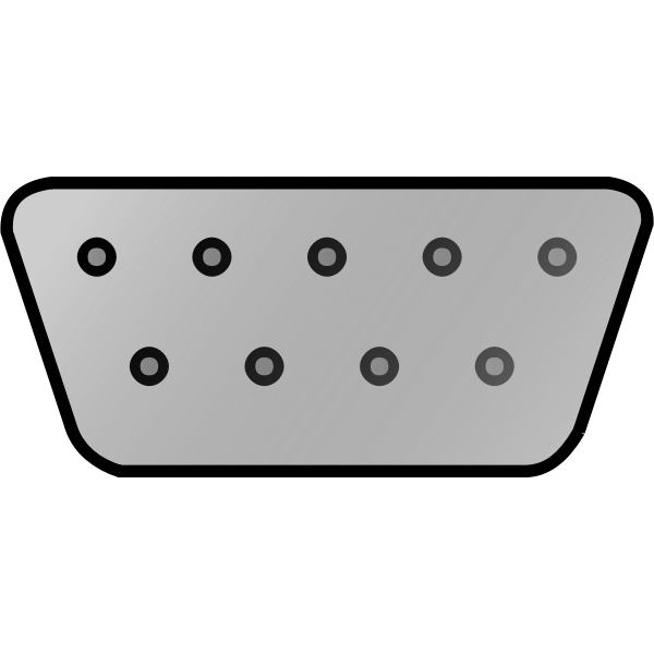 Vector image of connector for computer monitor