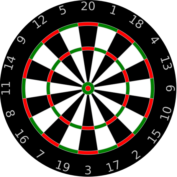 Vector illustration of dartboard