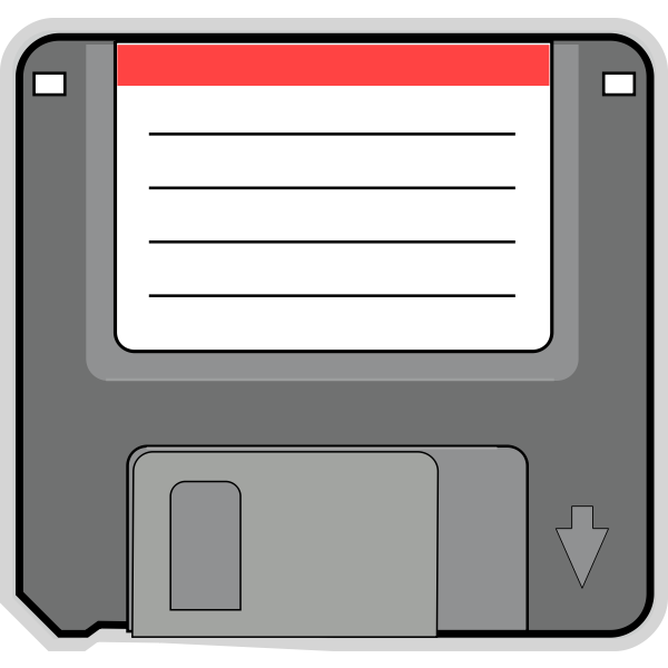PC floppy disk vector image