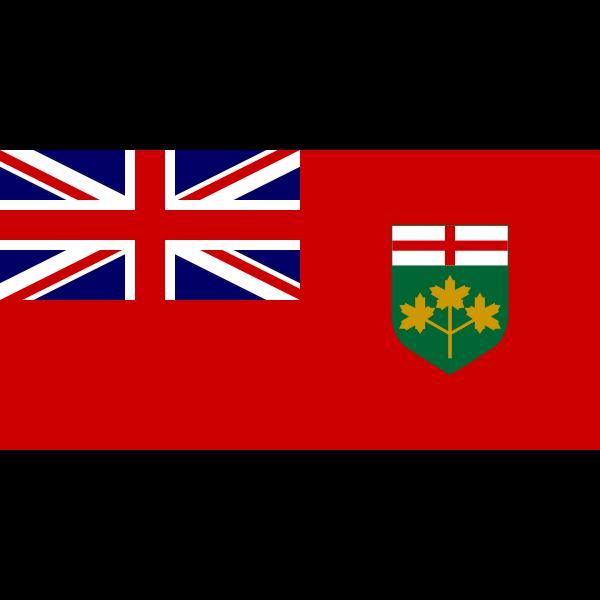 Vector flag of Ontario Canada