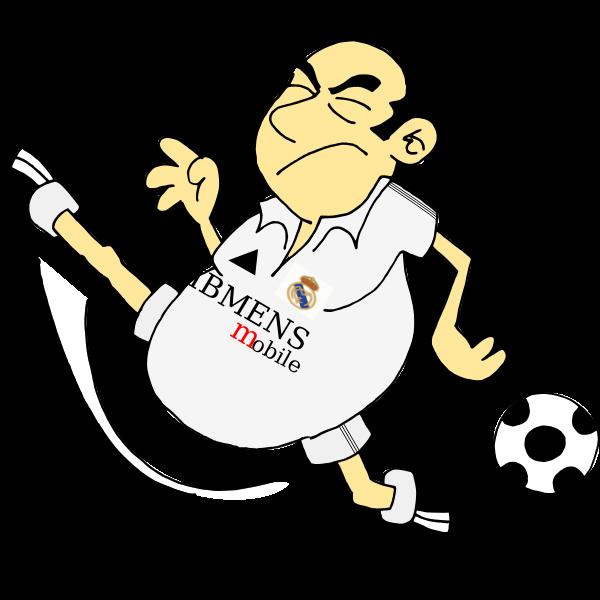 Vector graphics of cartoon soccer player